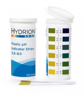 Hydrion (9700) pH Plastic Test Strips 5.5-8.0