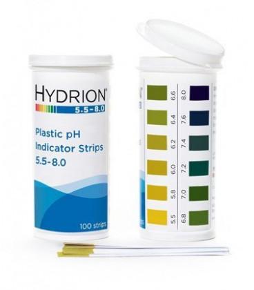 pH Plastic Test Strips 5.5-8.0