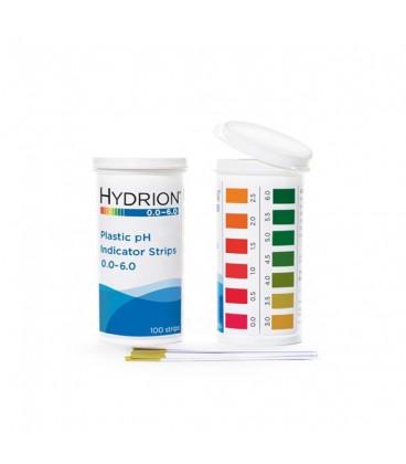 pH Plastic Test Strips 0.0 - 6.0