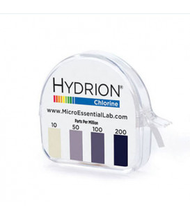 Hydrion Chlorine Test Paper 10-200ppm